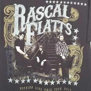 Rascal Flats 2011 Tour 2 sided concert T size M